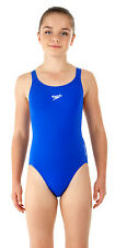 Speedo Junior Medalist Costume Intero Neon Blu Endurance Plus Medio Gamba
