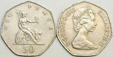 1969 to 1997 Elizabeth II Cupro Nickel Decimal Large 50p Your Choice of Date