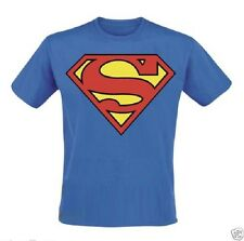 Superman T-shirt - Round Neck Royal Blue Stretchable Free Size for Men & Women
