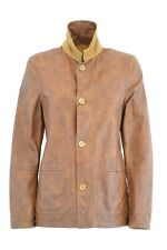 GIACCA PELLE SCAMOSCIATA CAMOSCIO DONNA WOMAN SUEDE LEATHER JACKET