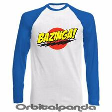 Long Sleeve Baseball T-Shirt - with Bazinga Design - Sheldon Big Bang Theory