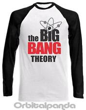 Long Sleeve Baseball T-Shirt with THE BIG BANG THEORY Logo  - Sheldon Cooper