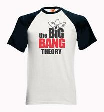 Baseball Short Sleeve T-Shirt with THE BIG BANG THEORY Logo - Sheldon Cooper