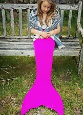 UK KIDS CHILDRENS ADULT SWIMMABLE MERMAID TAIL COSTUME HANDMADE MONOFIN