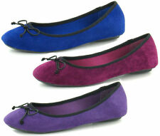 Ladies Spot On Suede Ballerina Style Shoe - F8855