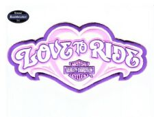 HARLEY DAVIDSON Parche/Patch LOVE TO RIDE tamaño aprox. 20,5 cm x 10,5cm