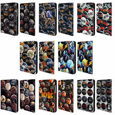 OFFICIAL AC/DC ACDC BUTTON PINS LEATHER BOOK CASE FOR SAMSUNG GALAXY TABLETS