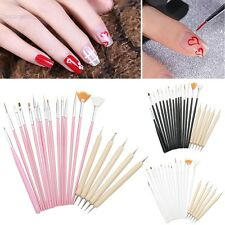 Spazzola Pennello Dotting Unghie Disegno Gel UV Manicure Pen Nail Art Kit TCNT