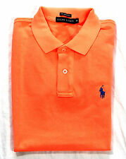 Ralph Lauren Polo Women's Skinny Polo Shirt Tee T-Shirt Orange Cotton NEW BNIB