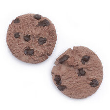 Set of 2 Cookie biscuit fridge magnets. Very realistic novelty strong magnet