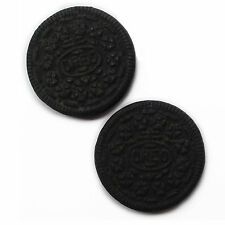 Set of 2 Oreo biscuit fridge magnets. Very realistic novelty strong magnet.