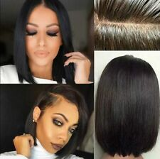 """10"""" Straight Short Bob Wig Brazilian Remy Human Hair Front Lace Wigs for Women"""