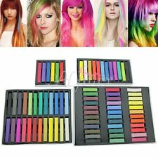 DIY 6/12/24/Non-toxique Temporaire Coloration De Cheveux Craie Pastels Salon Kit