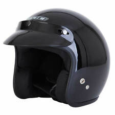 Spada Open Face motorcycle helmet, black