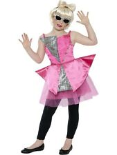 Kids Mini Dance Diva (Lady Gaga Style) Girls Fancy Dress Costume Party Outfit