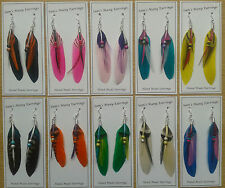 Native American Feather Earrings 10 Styles Hand Made