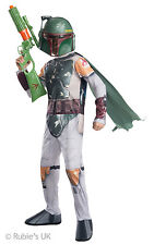 Boys Star Wars The Force Awakens Episode 7 Boba Fett Fancy Dress Costume Outfit