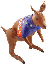 Inflatable Kangaroo with Australian Flag Blow Up Fancy Dress Accessory