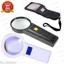 Hand Held Magnifying Glass With Led Light For Home Office Reading Camping Travel