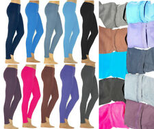 Thermo Leggings Hose lange Damen leggins lang Baumwolle Fleece dick warm weich