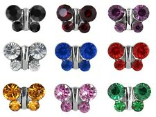Studex Sensitive 8mm Butterfly Stainless Steel Hypo-allergenic Stud Earrings