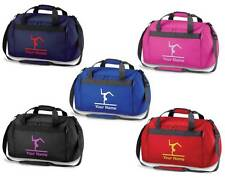 Personalised Printed Gymnastics Holdall /Costume Bag - leotard shoes rings GY9
