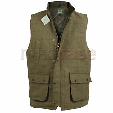 UOMO DERBY TWEED PANCIOTTO / GILET GIACCA XS - XXXL - STOCK UK