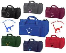 PERSONALISED PRINTED HOLDALL WITH GYMNASTICS DESIGN -bag sack leotard shoe GYM5