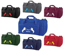 PERSONALISED PRINTED HOLDALL WITH HORSE DESIGN -bag pony boot Riding -  HO10