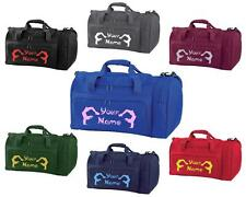 PERSONALISED PRINTED HOLDALL WITH GYMNASTICS DESIGN -bag sack leotard shoe GYM8