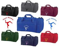 PERSONALISED PRINTED HOLDALL WITH GYMNASTICS DESIGN -bag sack leotard shoe GYM4