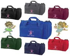 PERSONALISED EMBROIDERED BALLET 1 HOLDALL- pe kit swim gym sports bag kids Dance