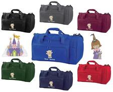 PERSONALISED EMBROIDERED STAR CHARACTER HOLDALL-pe kit swim gym sports bag kids
