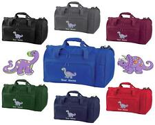 PERSONALISED EMBROIDERED DINOSAUR HOLDALL- pe kit swim gym sports bag kids sack