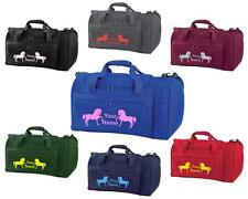 PERSONALISED PRINTED HOLDALL WITH HORSE DESIGN -bag pony boot Riding -  HO8