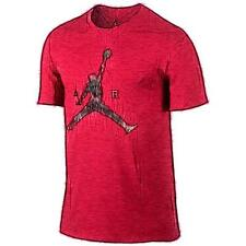Jordan Air Jumpman Basketball T-Shirt - Men's (Gym Red/Wolf Grey)