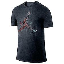 Jordan Air Jumpman Basketball T-Shirt - Men's (Black/Infrared 23)