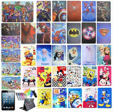 Cute Cartoon Patterned Tablet Case for Apple iPad PU Leather Stand Folio Cover