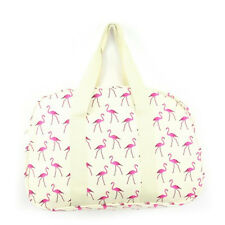 New Womans FLAMINGO ACCESSORIES Purse/Make-up Bag/Weekender Bag CREAM UK