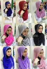 Arab Womens Shayla Headwear New Muslim Mulberry Silk Scarf Islamic Hijab Shawls