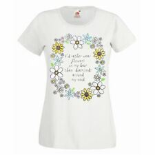 Ladies I'd Rather Wear Flowers In My Hair Than Diamonds White Festival Tshirt