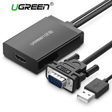 Ugreen Active VGA to HDMI Converter Cable Adapter With Audio 1080P for PC Laptop