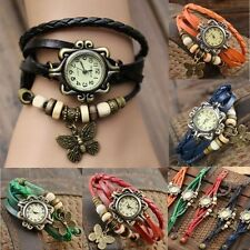 Fashion Women's #LE Butterfly Bracelet Wrap Watch Quartz Movement Wrist Watch