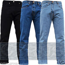 BNWT MENS JEANS STRAIGHT LEG DENIM VINTAGE CLASSIC BASIC 5 POCKETS HEAVY WORK