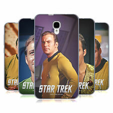 UFFICIALE STAR TREK CAPITANO KIRK COVER MORBIDA IN GEL PER ALCATEL TELEFONI