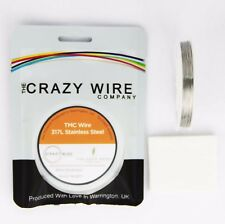 0.4mm (26 AWG) - 317L Grade Stainless Steel Wire - TMC Wire - 10M, 25M OR 50M