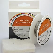 0.65mm (22 AWG) - 317L Grade Stainless Steel Wire - TMC Wire - 10M, 25M OR 50M