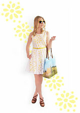 %Yumi Daisy Cut-Out Prom Kleid gelb M-XL