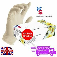 GN03 Latex Examination Gloves Lightly Powdered by HANDSAFE Hand Safe ALL SIZES