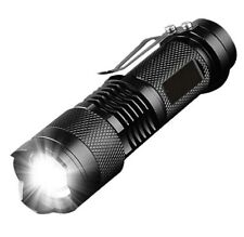 Mini CREE Bright LED Geocaching Torch Flashlight with Keyring Fixed Beam Q5
